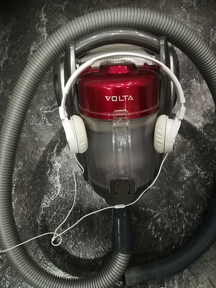Love my Volta and noise-cancelling headphones - perfect together!